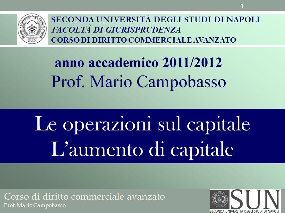 Corso di diritto commerciale avanzato Prof.Mario Campobasso Qualora trovi applicazione lart.