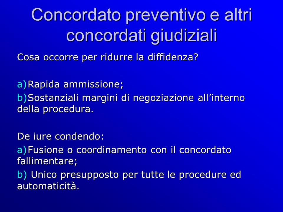 Concordato preventivo e altri concordati giudiziali Cosa occorre per ridurre la diffidenza.
