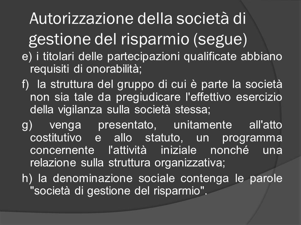FONDI COMUNI DI INVESTIMENTO: regole fondamentali 1.