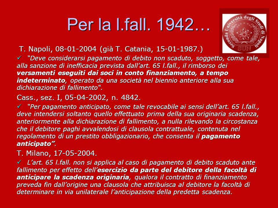 Per la l.fall.1942… T. Napoli, 08-01-2004 (già T.