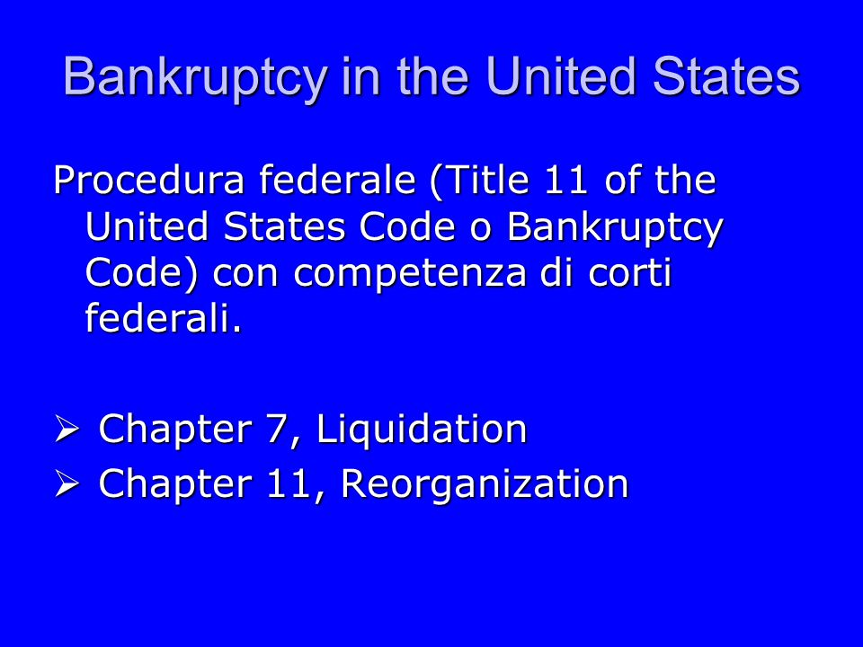 Bankruptcy in the United States Voluntary filing vs.