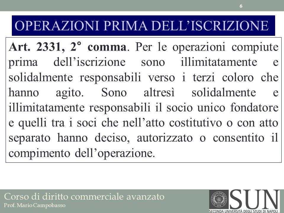 Nullità della società per azioni Cause 2332.(Nullità della società).