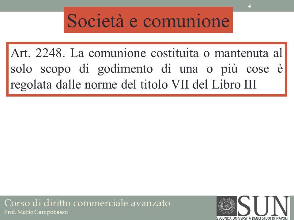 Società e comunione Art. 2248.