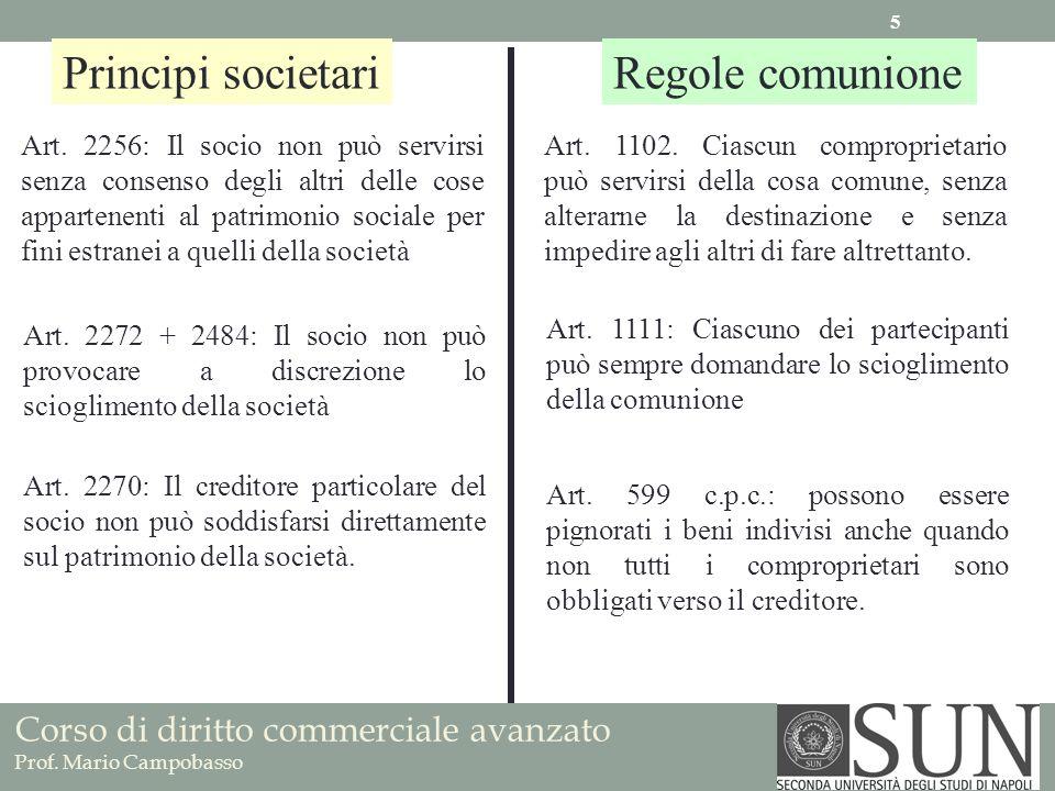 Principi societariRegole comunione Art.