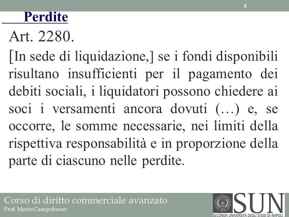 Art. 2280. [ In sede di liquidazione,] se i fondi disponibili risultano insufficienti per il pagamento dei debiti sociali, i liquidatori possono chied