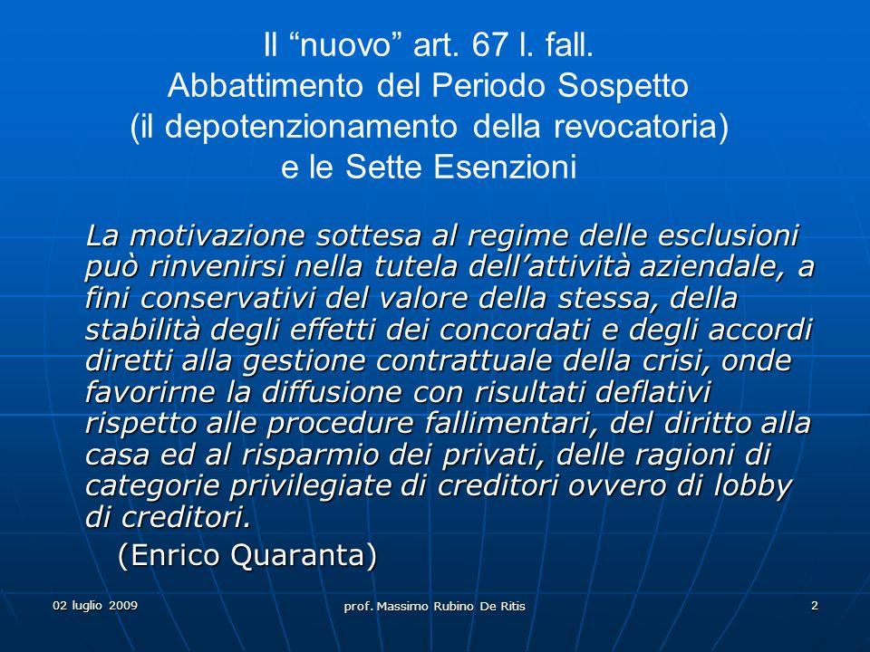 02 luglio 2009 prof.Massimo Rubino De Ritis 3 Art.