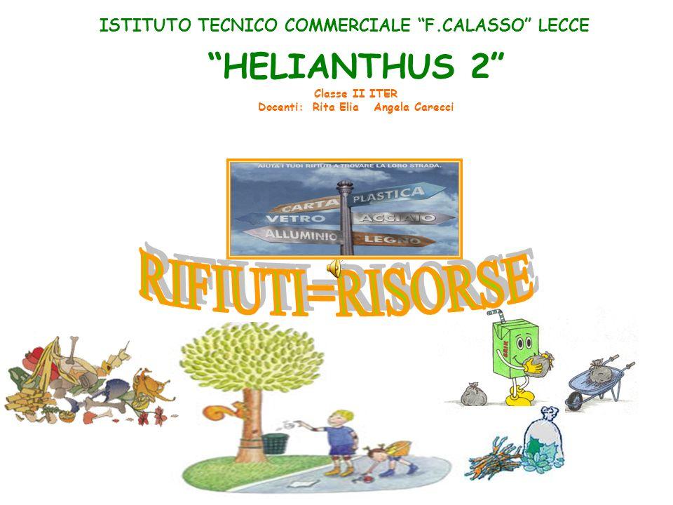 ISTITUTO TECNICO COMMERCIALE F.CALASSO LECCE HELIANTHUS 2 Classe II ITER Docenti: Rita Elia Angela Carecci