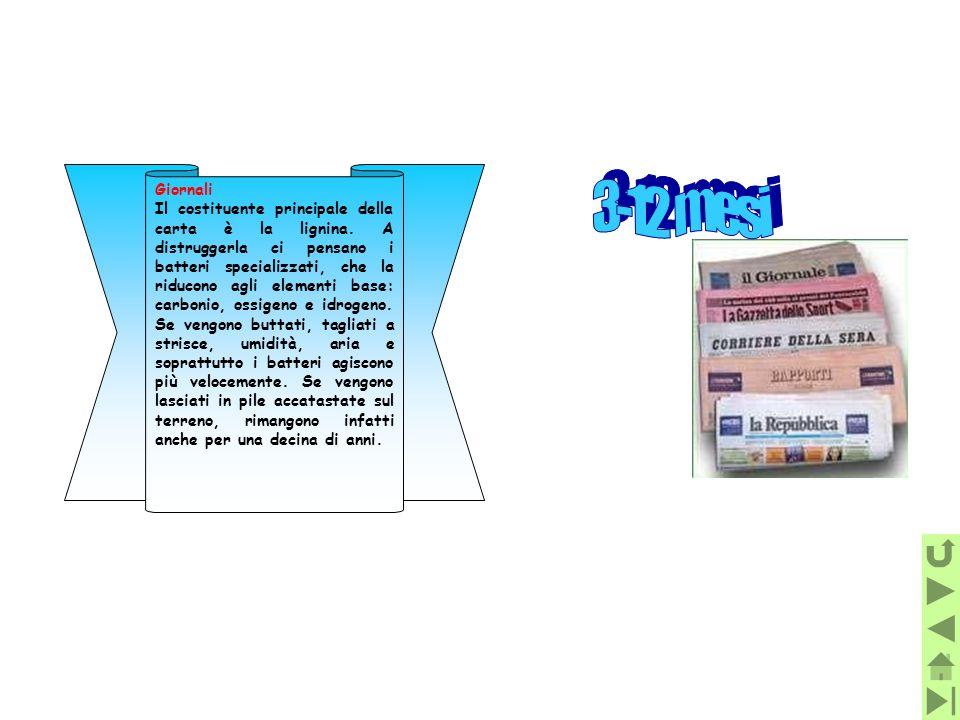 Giornali Il costituente principale della carta è la lignina. A distruggerla ci pensano i batteri specializzati, che la riducono agli elementi base: ca