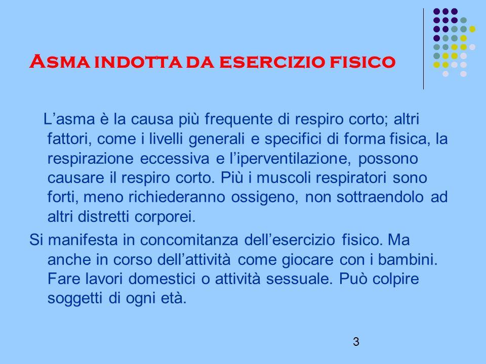 4 COME SI FA A SAPERE SE SI SOFFRE DI ASMA DA ESERCIZIO FISICO.
