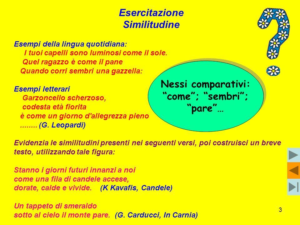 14 SINESTESIA (5) Costruisci alcuni esempi, utilizzando le seguenti sinestesie: 1.