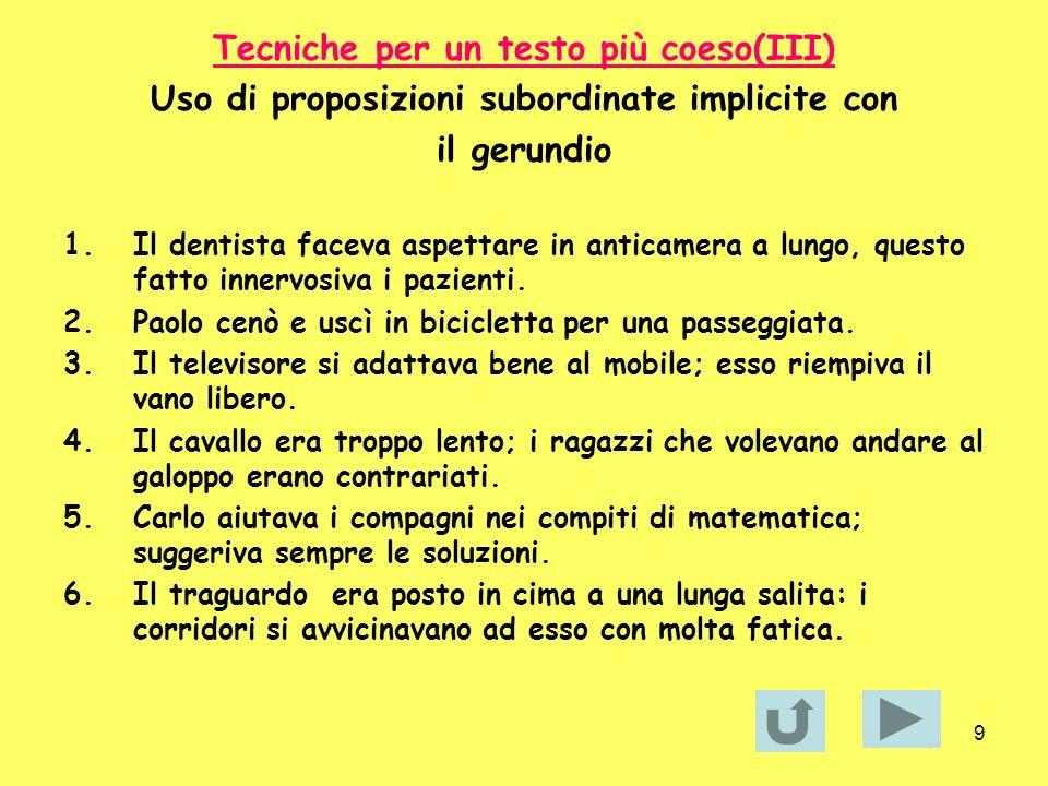 10 Tecniche per un testo più coeso (IV) Nominalizzazione di un verbo 1.Il museo di Brera è stato chiuso.