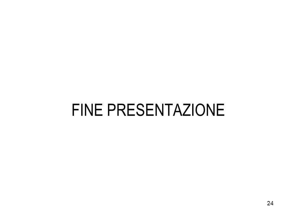 24 FINE PRESENTAZIONE