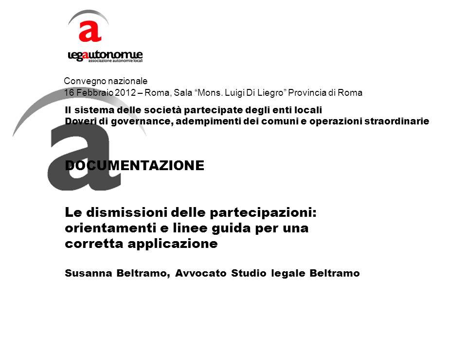 Convegno nazionale 16 Febbraio 2012 – Roma, Sala Mons.