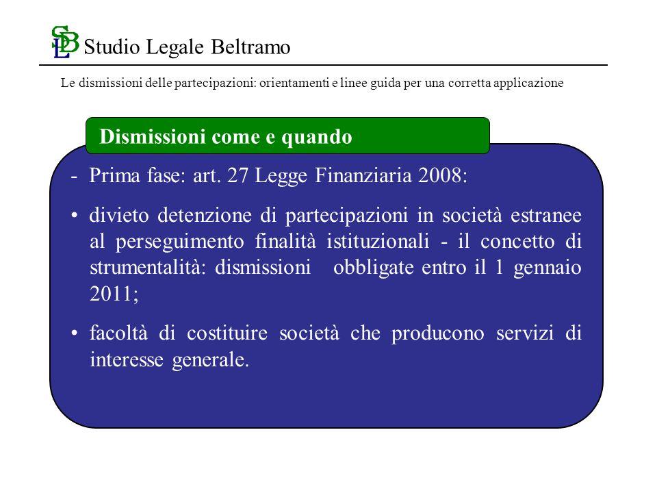 Studio Legale Beltramo - Prima fase: art.