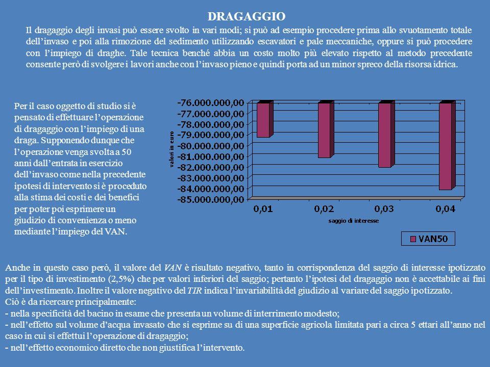 DRAGAGGIO Il dragaggio degli invasi può essere svolto in vari modi; si può ad esempio procedere prima allo svuotamento totale dellinvaso e poi alla ri