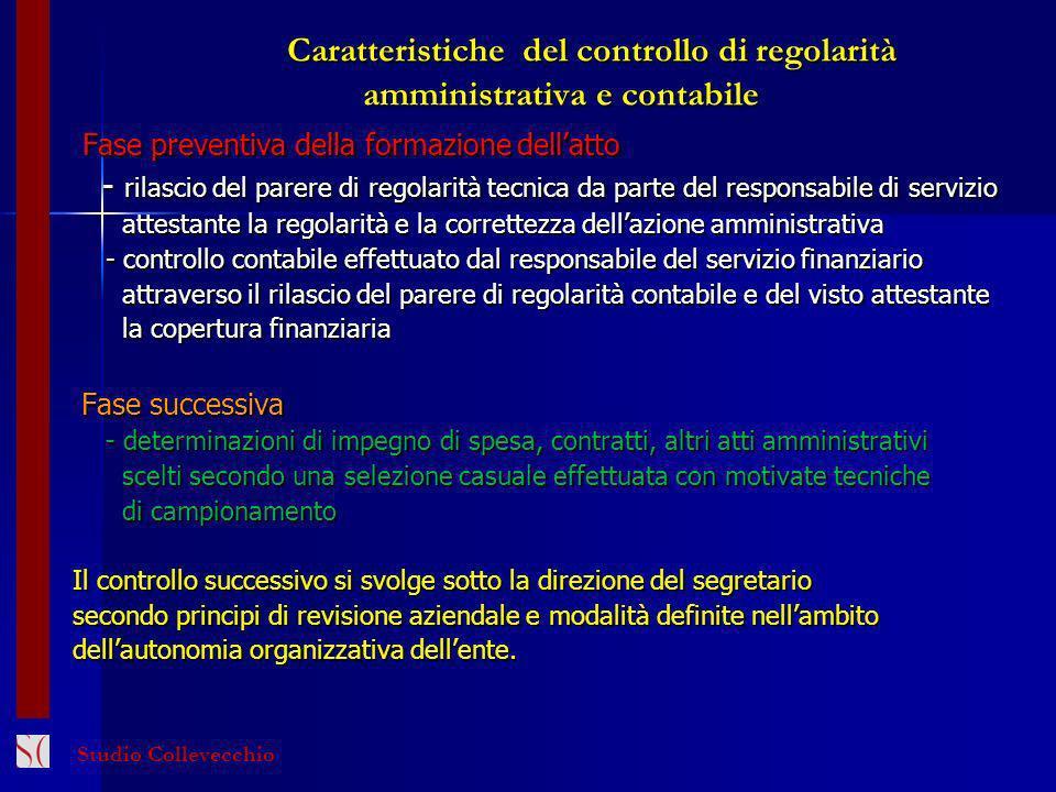 Caratteristiche del controllo di regolarità amministrativa e contabile Caratteristiche del controllo di regolarità amministrativa e contabile Fase pre
