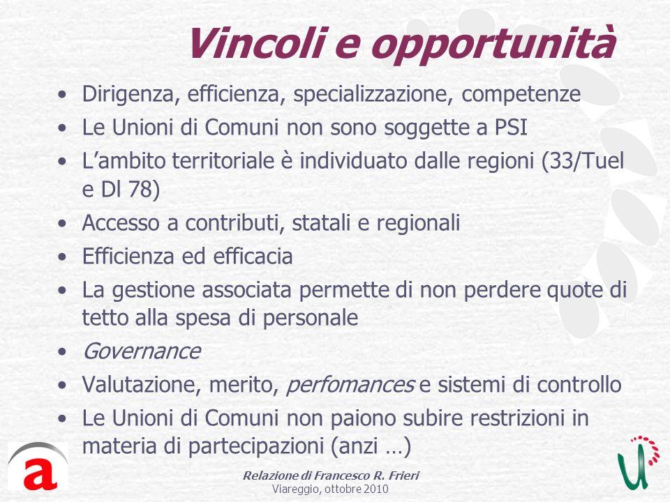 Relazione di Francesco R.