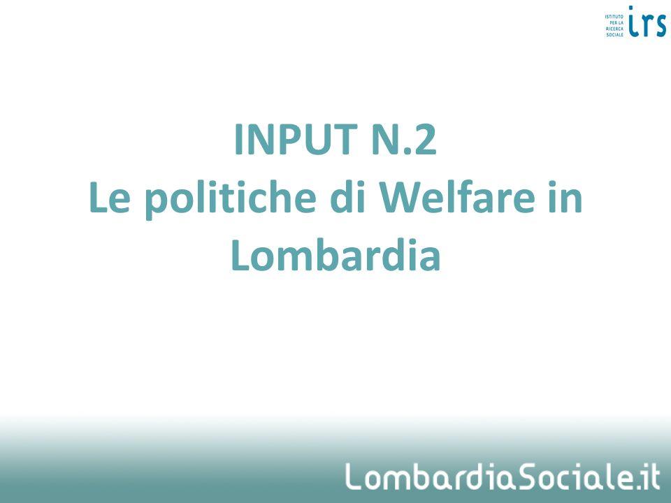 INPUT N.2 Le politiche di Welfare in Lombardia