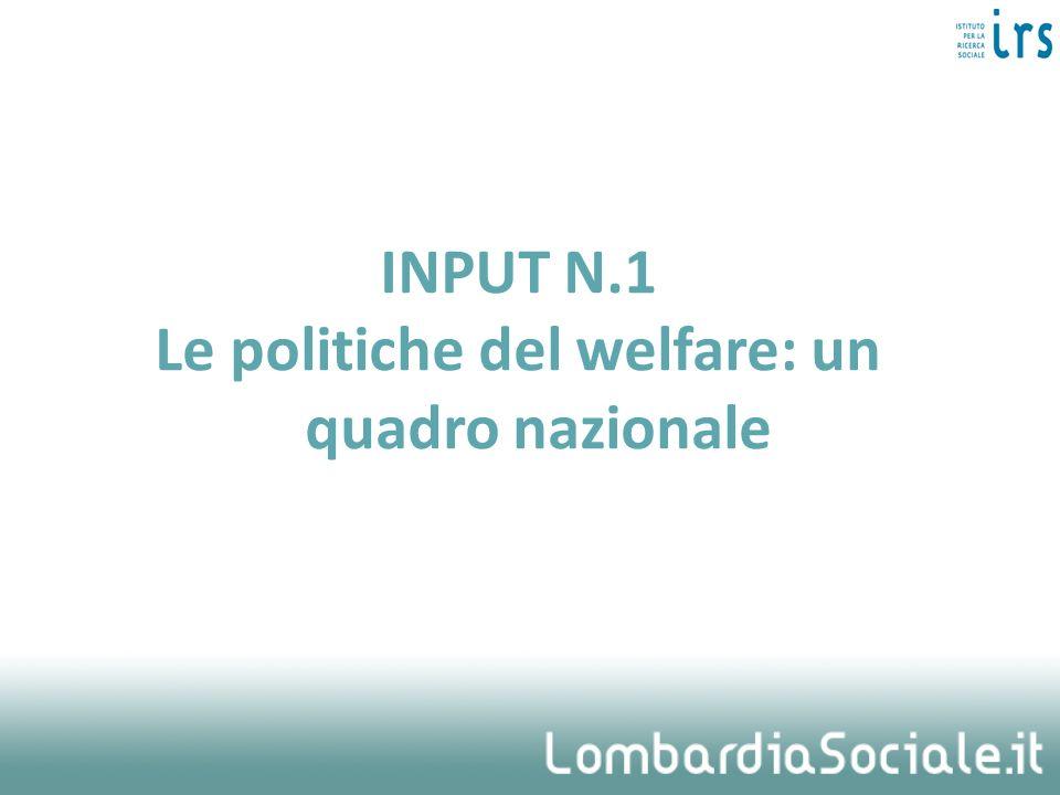 Il termine welfare ha un senso esteso, come insieme di benessere, salute, coesione sociale Riguarda la società nel suo insieme, e non solo le componenti più vulnerabili che richiedono specifica considerazione.