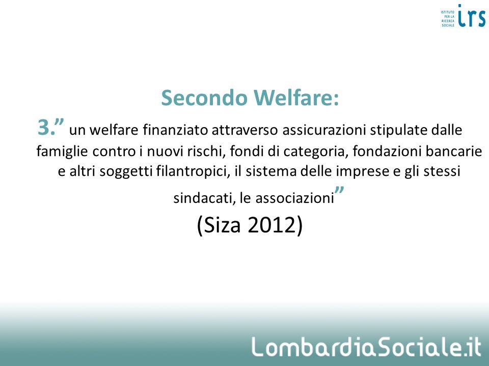 Secondo Welfare: 3. un welfare finanziato attraverso assicurazioni stipulate dalle famiglie contro i nuovi rischi, fondi di categoria, fondazioni banc