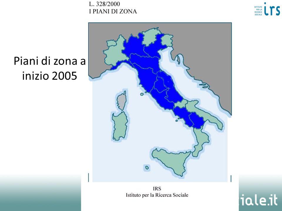 Piani di zona a inizio 2005