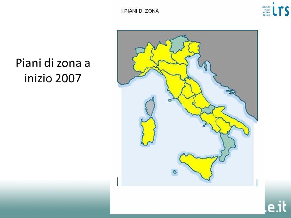 Piani di zona a inizio 2007