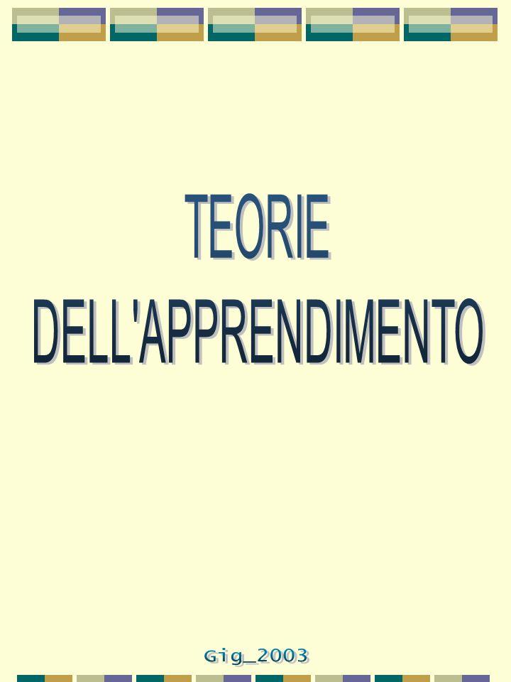 TEORIE DELL APPRENDIMENTO IL COMPORTAMENTISMO (behaviorism).