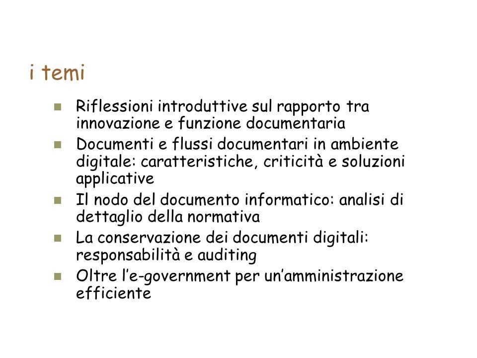 Riflessioni introduttive sul rapporto tra innovazione e funzione documentaria