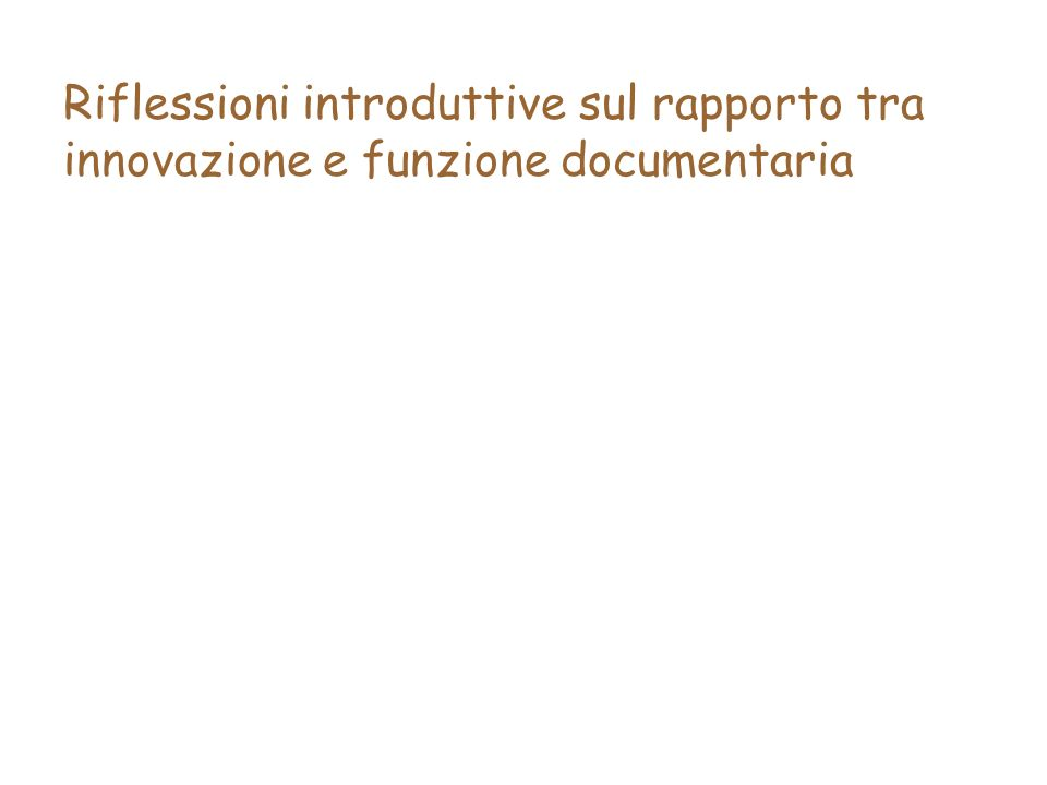 Lo stato dellarte: evoluzione della normativa italiana sul documento informatico – 5.