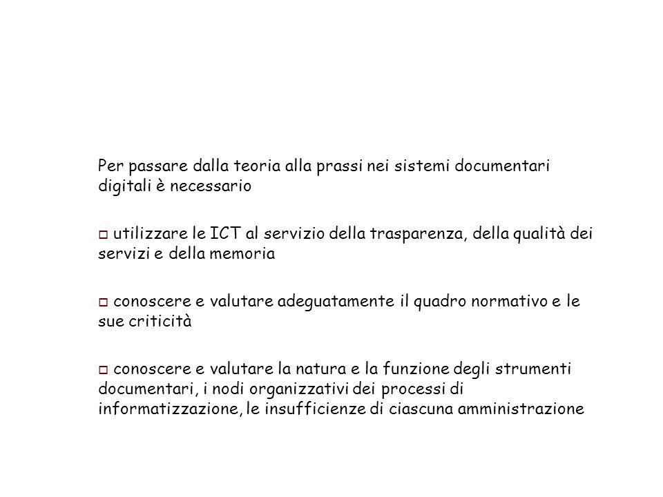 Il ruolo centrale della classificazione darchivio: le 15 ragioni per sostenere la progettazione e luso di sistemi di classificazione - 3 11.