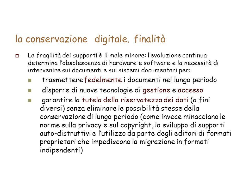 la conservazione digitale.