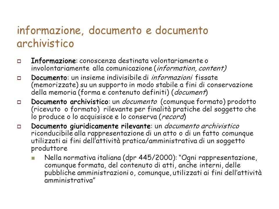 XML come un formato di conservazione Tradurre lo schema in una DTD XML: …