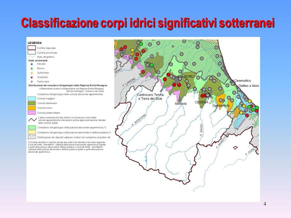 4 Classificazione corpi idrici significativi sotterranei