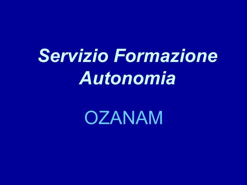 Servizio Formazione Autonomia OZANAM