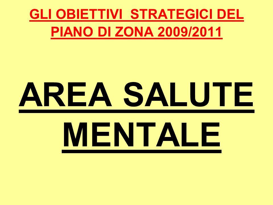GLI OBIETTIVI STRATEGICI DEL PIANO DI ZONA 2009/2011 AREA SALUTE MENTALE