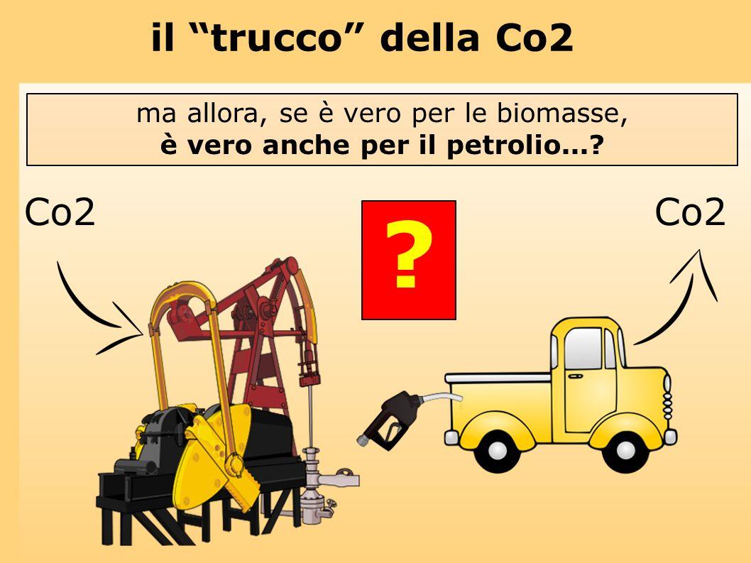 il trucco della Co2 ma allora, se è vero per le biomasse, è vero anche per il petrolio...? Co2 ?
