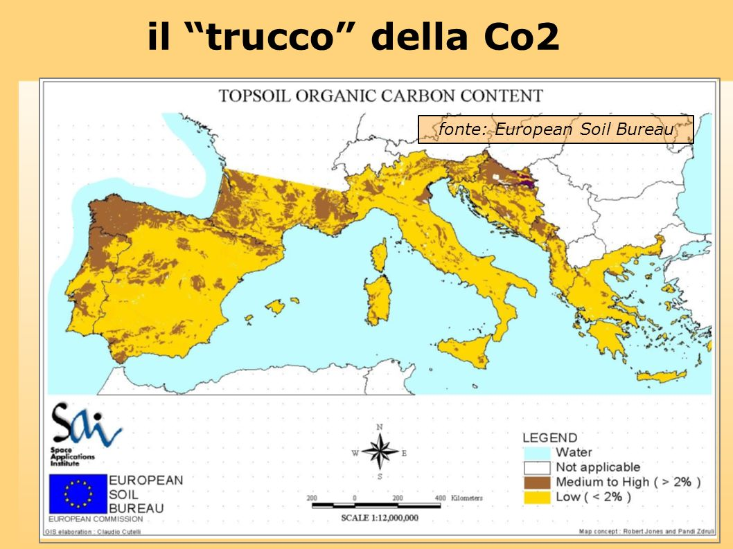 il trucco della Co2 fonte: European Soil Bureau