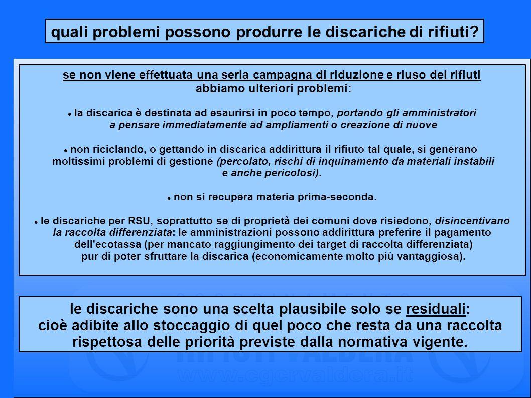 quante discariche ci sono nella Provincia di Pisa.