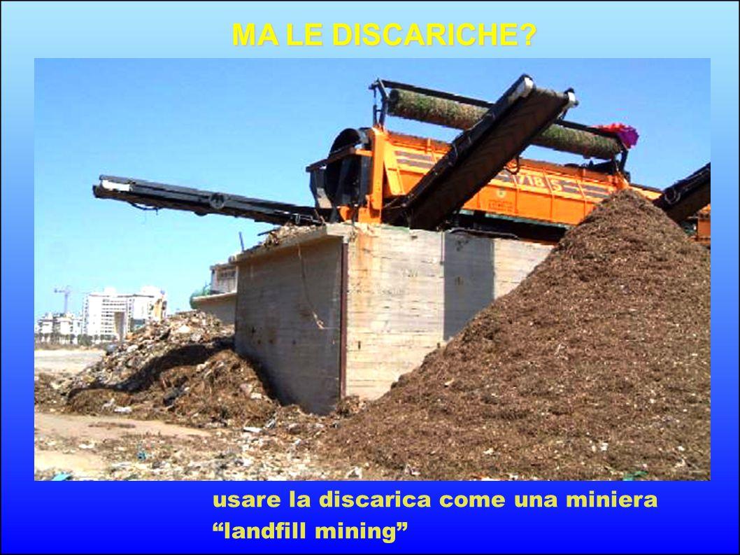 usare la discarica come una miniera landfill mining MA LE DISCARICHE?