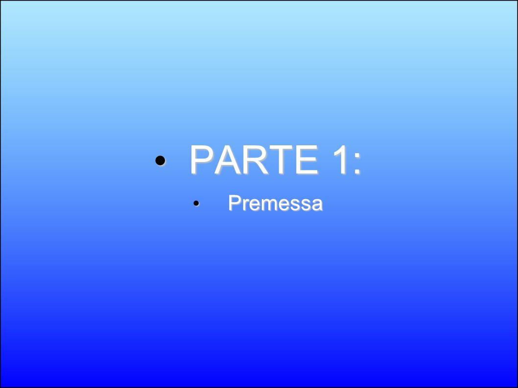 PARTE 1: PARTE 1: Premessa Premessa