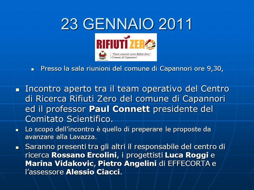 23 GENNAIO 2011 Presso la sala riunioni del comune di Capannori ore 9,30, Presso la sala riunioni del comune di Capannori ore 9,30, Incontro aperto tr