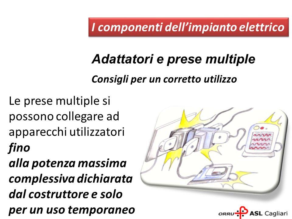 Adattatori e prese multiple I componenti dellimpianto elettrico Consigli per un corretto utilizzo Le prese multiple si possono collegare ad apparecchi