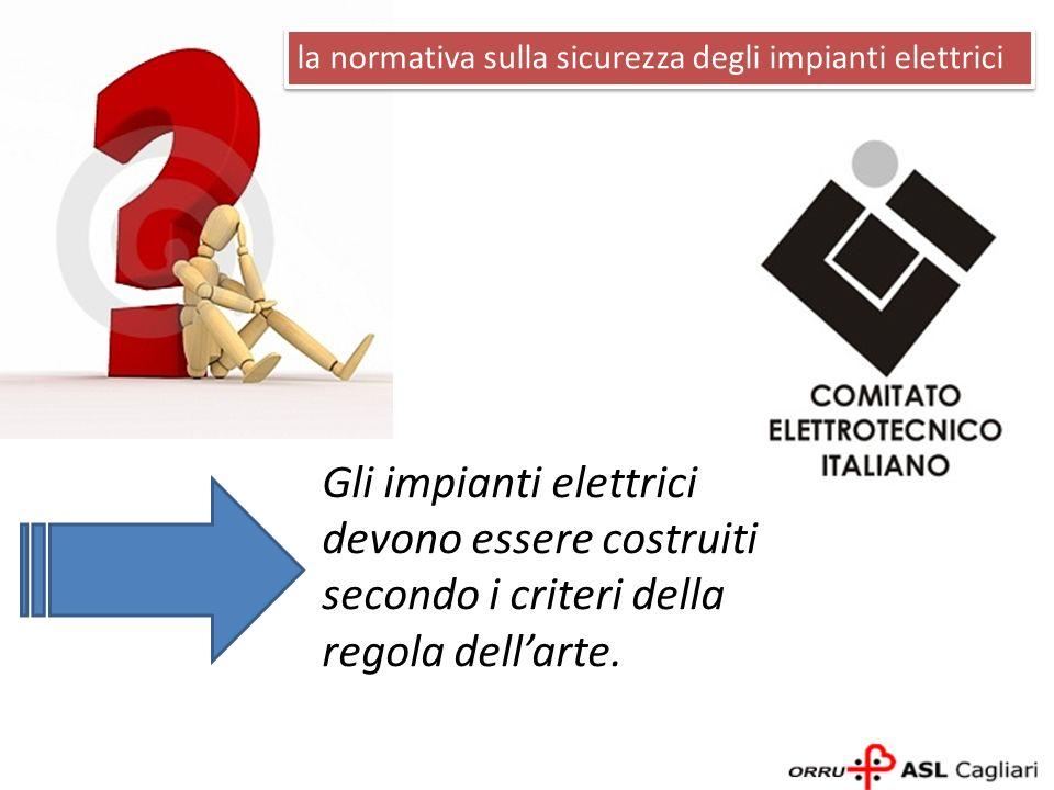 Gli impianti elettrici devono essere costruiti secondo i criteri della regola dellarte. la normativa sulla sicurezza degli impianti elettrici