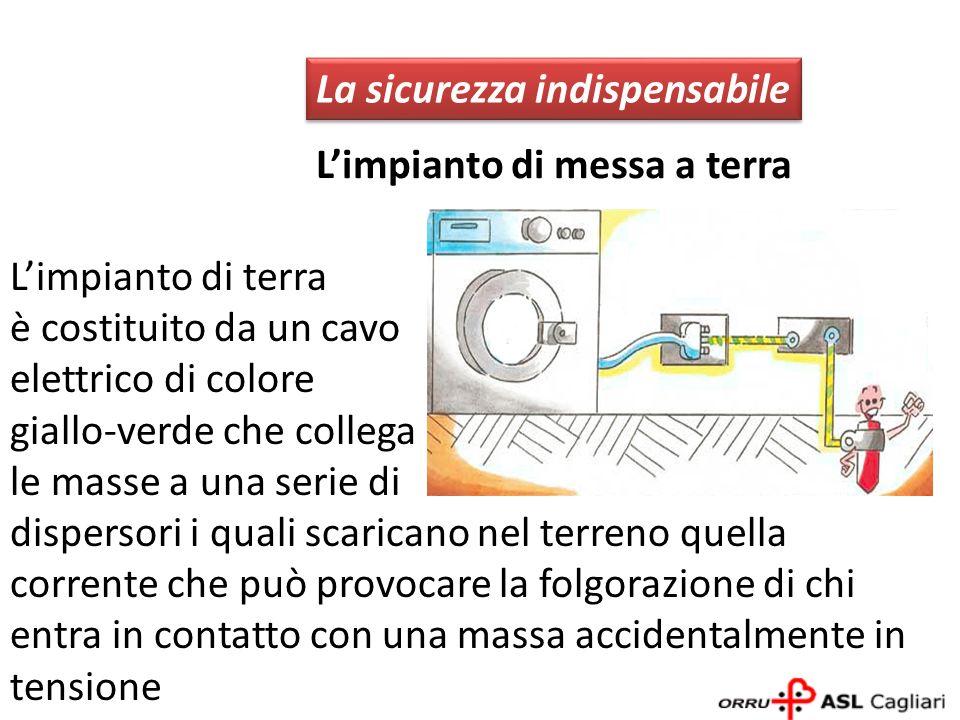 La sicurezza indispensabile Interruttore differenziale Protegge le persone quando accidentalmente vengono in contatto con parti dellimpianto elettrico in tensione
