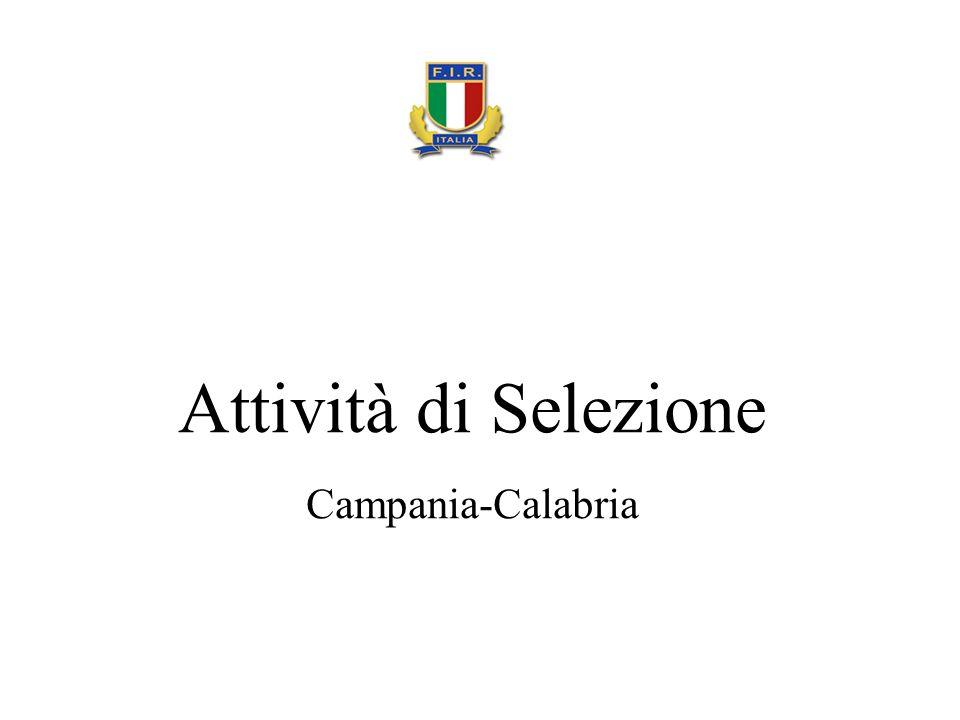 Attività di Selezione Campania-Calabria