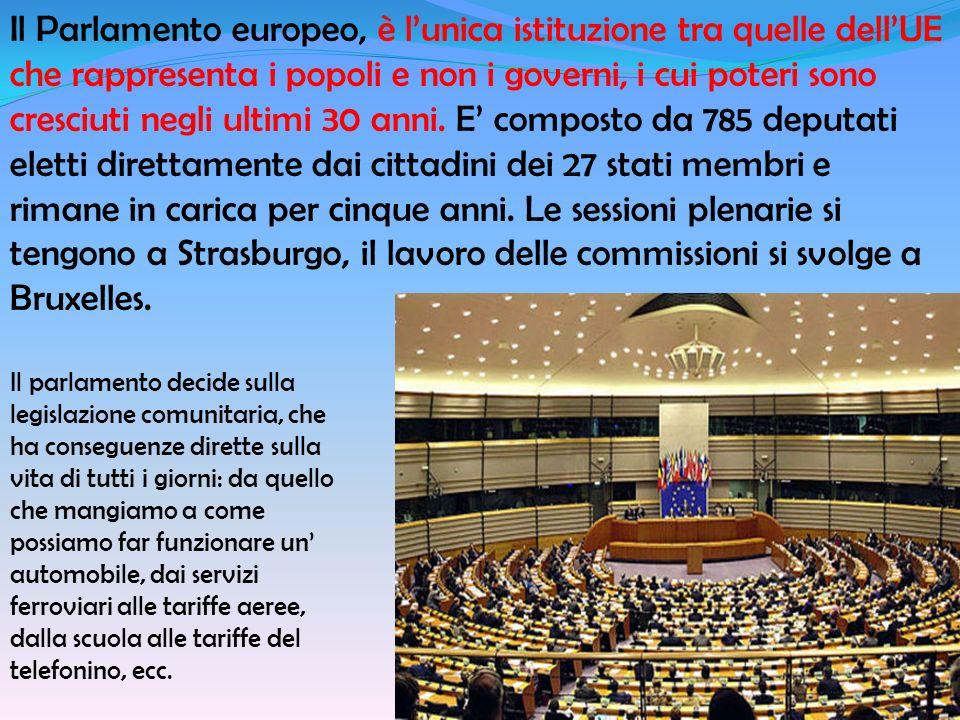 Il Parlamento europeo, è lunica istituzione tra quelle dellUE che rappresenta i popoli e non i governi, i cui poteri sono cresciuti negli ultimi 30 an