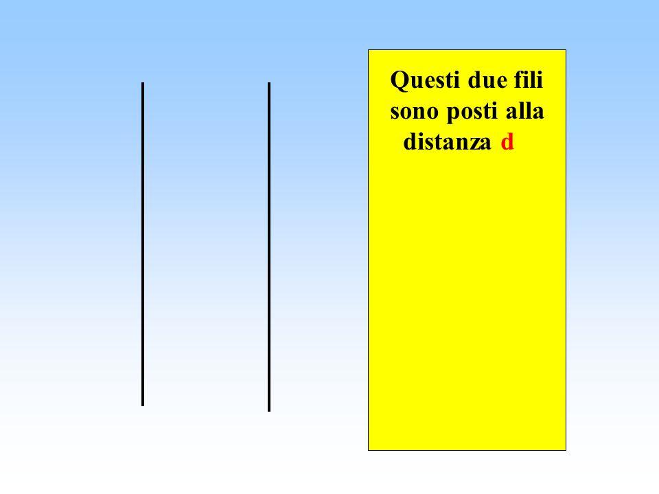Questa forza è proporzionale allintensità di corrente che attraversa i fili, ma diminuisce allaumentare della loro distanza.