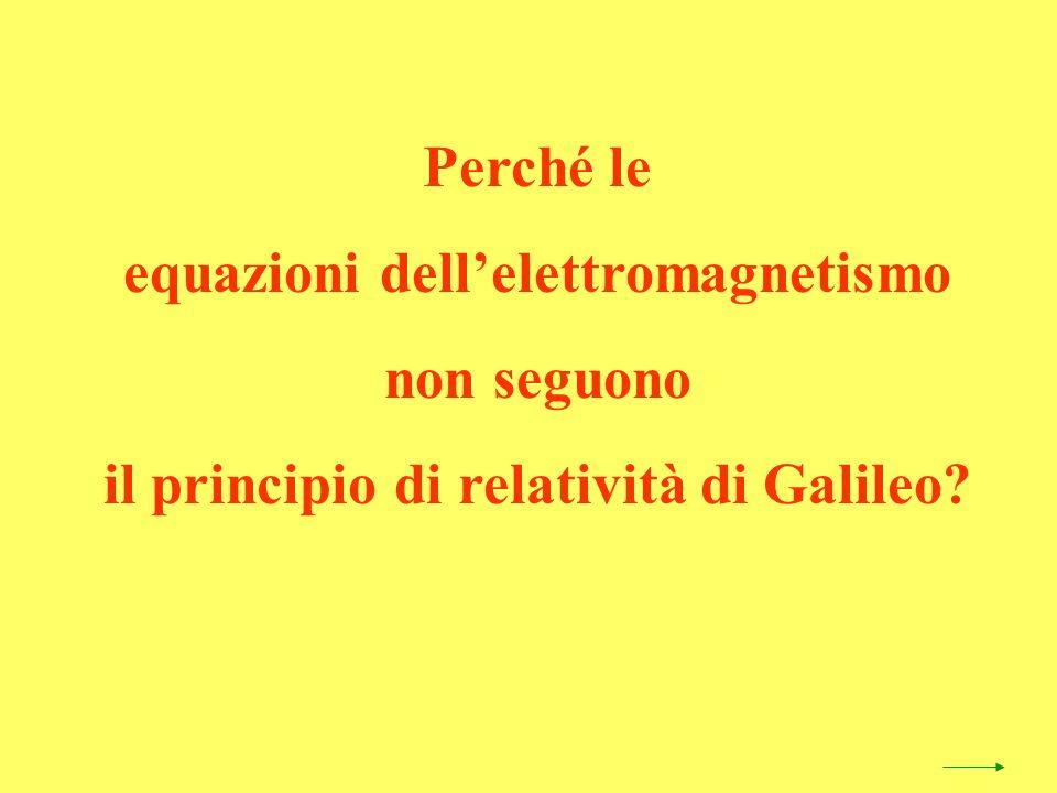 Perché le equazioni dellelettromagnetismo non seguono il principio di relatività di Galileo