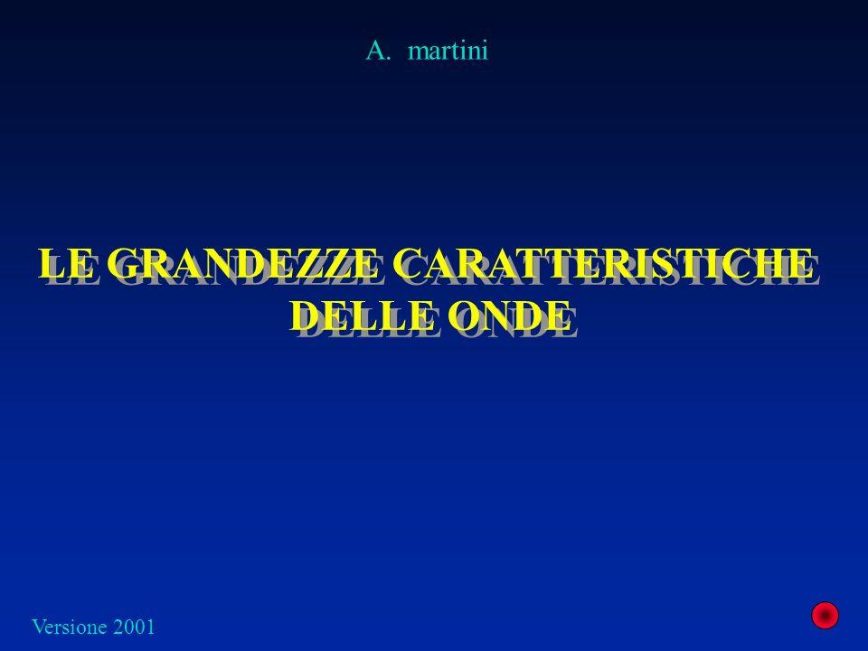 LE GRANDEZZE CARATTERISTICHE DELLE ONDE LE GRANDEZZE CARATTERISTICHE DELLE ONDE A. martini Versione 2001