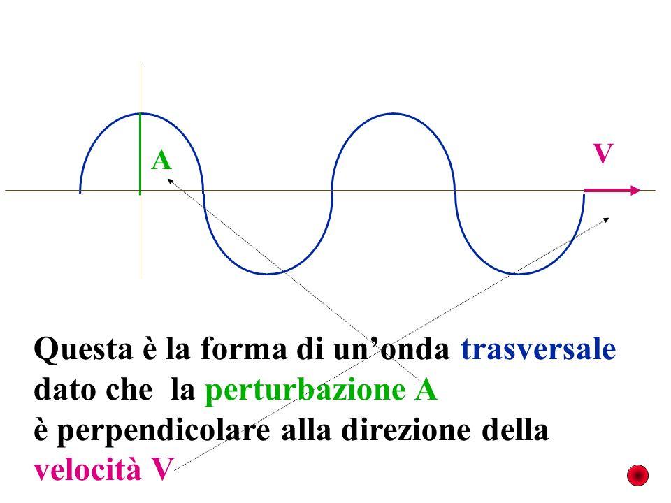 descriviamo questa onda mediante alcune grandezze fondamentali. A V